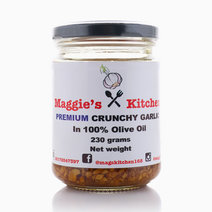 Premium Crunchy Garlic in 100% Olive Oil (230g) by Maggie's Kitchen