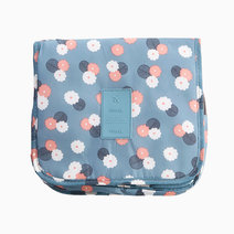 Blue Floral Toiletry Pouch w/ Hanger by Always in Transit