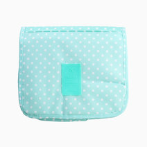 Teal Dotted Toiletry Pouch w/ Hanger by Always in Transit