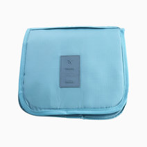 Blue Plain Toiletry Pouch w/ Hanger by Always in Transit