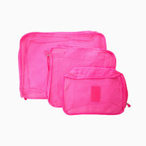 Fuchsia Packing Cubes (Set of 3) by Always in Transit