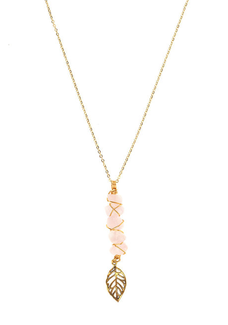 Rose Quartz Fae Necklace by Made By KCA