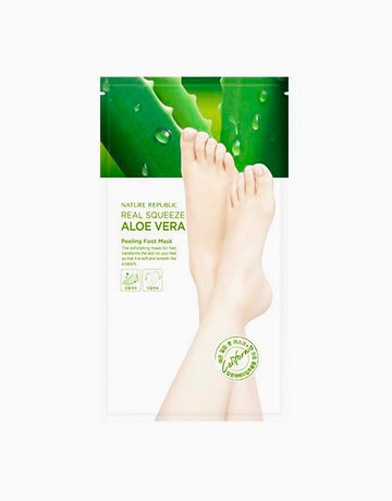 Real Squeeze Aloe Vera Peeling Foot Mask by Nature Republic