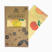 Raw Bites Beeswax Wraps Apple (Set of 3) by Raw Bites
