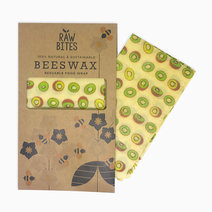 Raw Bites Beeswax Wraps Kiwi (Set of 3) by Raw Bites
