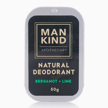 Natural Deodorant Bergamot+Lime (50g) by Mankind Apothecary Co.