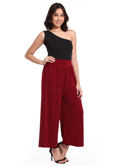 Loose Pants by Daily Design in Wine in Free Size