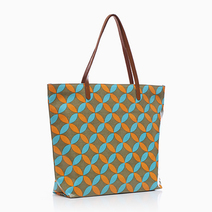 Zippy Laminated Tote (Orange Print) by Coco & Tres