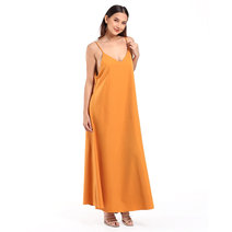 Sleeveless V-Neck Maxi Dress by Daily Design