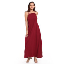 Sleeveless Square Neck Maxi Dress by Daily Design