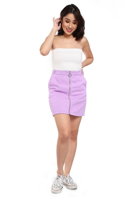 Zipper Denim Skirt by Fudge Rock
