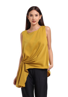 Regina Top by Ampersand in Mustard in Free Size