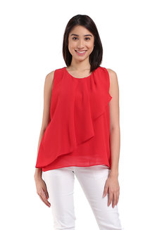 Lois Top by Ampersand in Red in Free Size