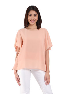 Percy Blouse by Ampersand in Nude in Free Size