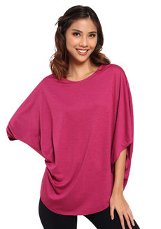 Lazy Poncho by Lazy Fare in Fuschia in Free Size
