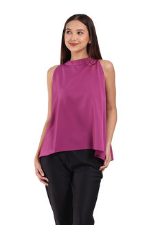 Rue Top by Ampersand in Magenta in Free Size
