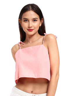 Pauline Top (Coral) by V.alice Clothing in Coral in L