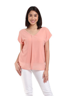 Eleanor Blouse by Ampersand in Peach in Free Size