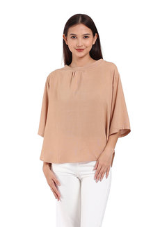 Jean Blouse by Ampersand in Beige in Free Size