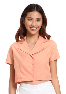 Blanche Top by V.alice Clothing in Salmon in M