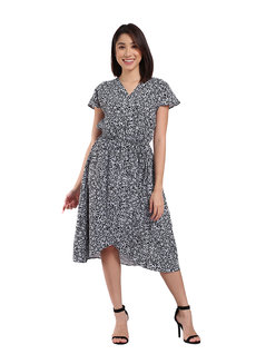 Hamburg Midi Wrap Dress by TM