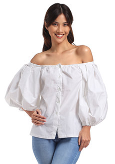 Mariana Top by Mode De Vie in White in Free Size