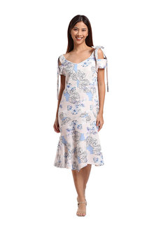 France Cold Shoulder Trumpet Dress by TM in Floral in L