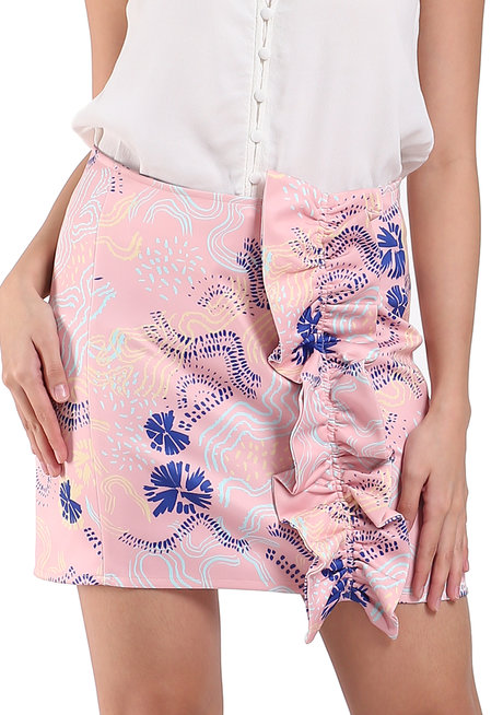 Eastport Mini Skirt with Ruffle Detail by TM
