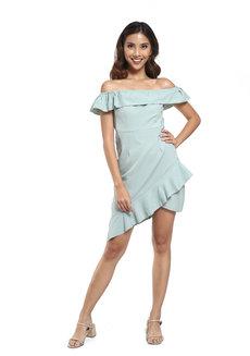 Jasmine Dress by Pink Lemon Wear in Green in Free Size