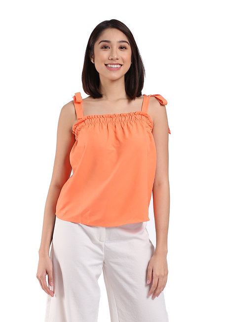 Dubai Top with Smocked Neckline by TM