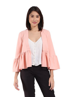 Belgium Blazer with Peplum Hem by TM