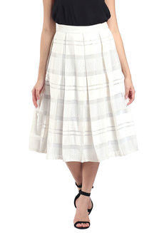 Audrey Skirt by Mode De Vie in White & Silver in XS - S