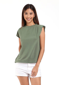 Marvel Muscle Tee by Toppicks Clothing in Green in Free Size