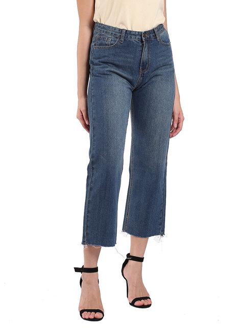 Hi-Rise Wide Leg Jeans by Mantou Clothing