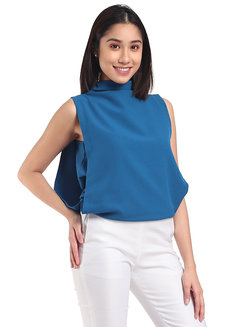 Charlize Top by Mode De Vie in Teal in XS - S