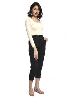 Long Sleeves Cropped Top by Pink Lemon Wear