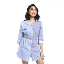 Shirt Dress With Belt by Pink Lemon Wear