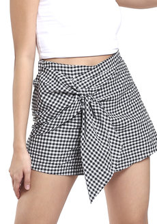 Checkered Black And White Skorts by Pink Lemon Wear