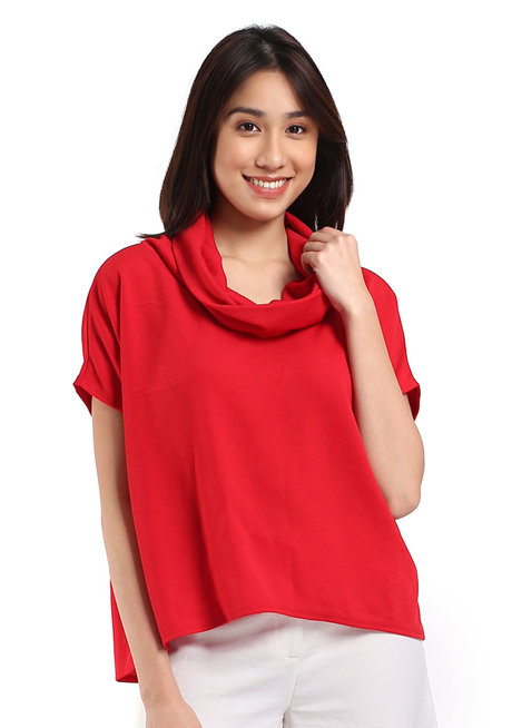 Ophelia Cowl Neck Top by Toppicks Clothing