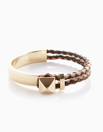 Half-Braided Bangle by Luxe Studio