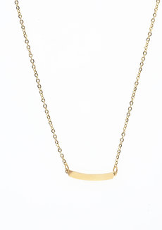 Curved Bar Gold Necklace by Adorn by MV