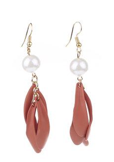 Mindaro Dangle Earrings by Moxie PH in Tangerine