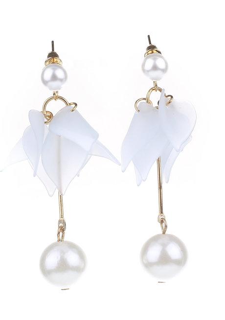 Almond Petal Stud Earrings by Moxie PH