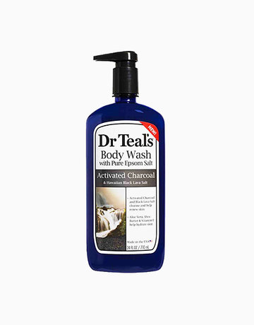 Activated Charcoal & Hawaiian Black Lava Salt Body Wash (24oz) by Dr. Teal's