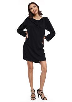 Seine Keyhole Dress by Quite Frankie in Black in Free Size