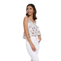 Carefree Floral Top by Fudge Rock