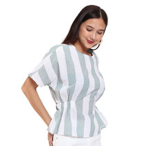 Candy Striped Blouse by Fudge Rock