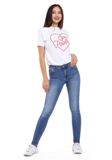 Girl Power Tee by Fudge Rock in White in Free Size
