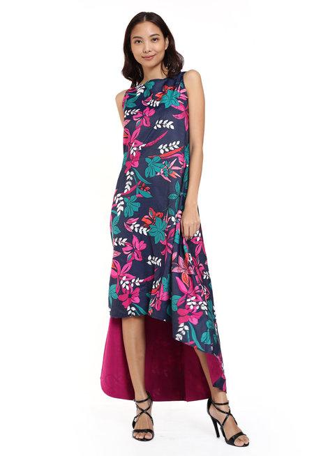 Jackie Reversible High Low Dress by Estela