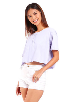 Button Crop Shirt by Mantou Clothing